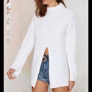 NWOT Nasty Gal White Sweater